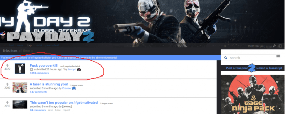 The top thread on /r/payday/ goes to show how angry they all are.