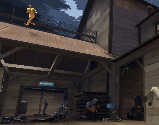 As spy, use the rooftops to place sappers on all popular sentry spots in the intel area.