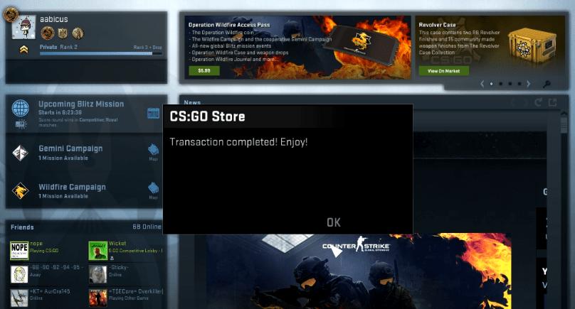 Oh, I did, CS:GO. I did.