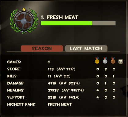 I won a lot of matches but this bar didn't seem to be getting bigger...