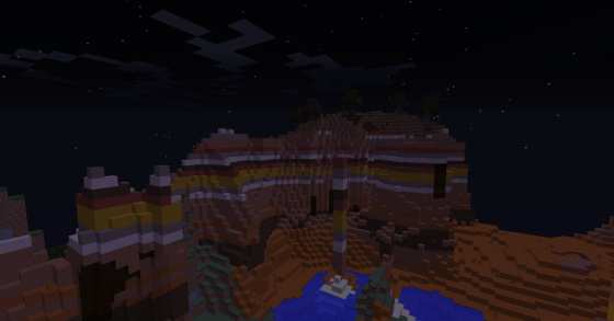 Then again, Beta and Alpha Minecraft didn't have biomes like this...
