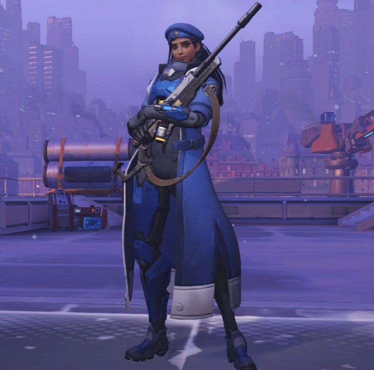 Though if you wanted a more traditional middle age, her epic skin is how she looked when Overwatch was first founded.
