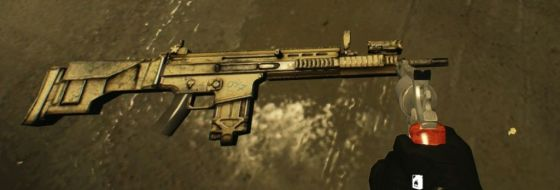 It's also one of the few DLC weapons wielded by enemies, specifically Murkywater mercenaries.