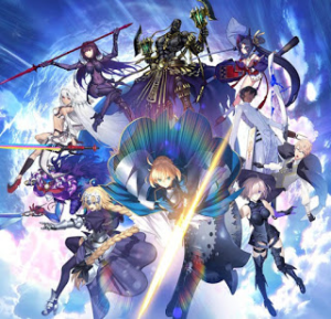 Fate/Grand Order's teaser image, showing off the different servants