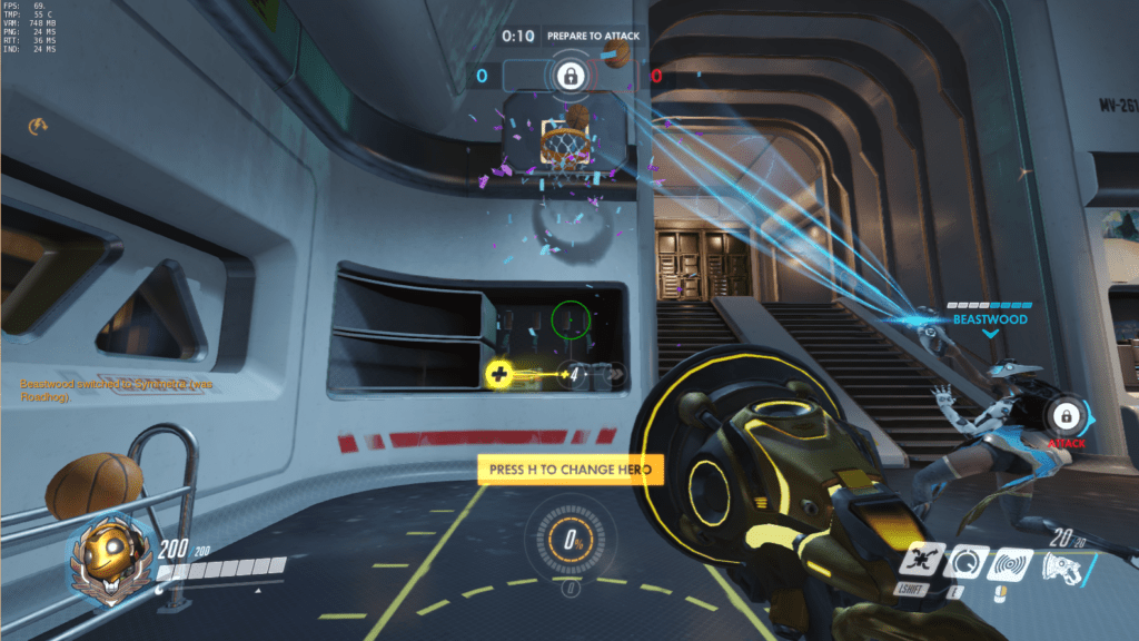 Symmetra can also score basketball hoops like nobody's business during setup.