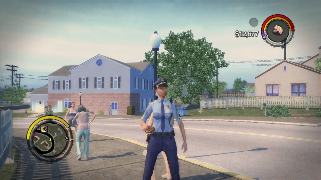 Every gang/law enforcement force in Saints Row 2 has male and female units, something they stopped doing in future games.