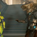"""Teshin: """"Wow, kid, you're so whiny."""" Retvik the Operator: """"I hate you."""" Volt the Warframe: """"I wish I wasn't just an empty suit."""""""