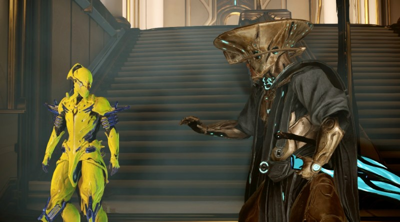 "Teshin: ""Wow, kid, you're so whiny."" Retvik the Operator: ""I hate you."" Volt the Warframe: ""I wish I wasn't just an empty suit."""