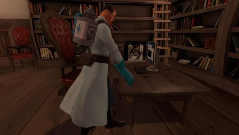 Medic at a computer