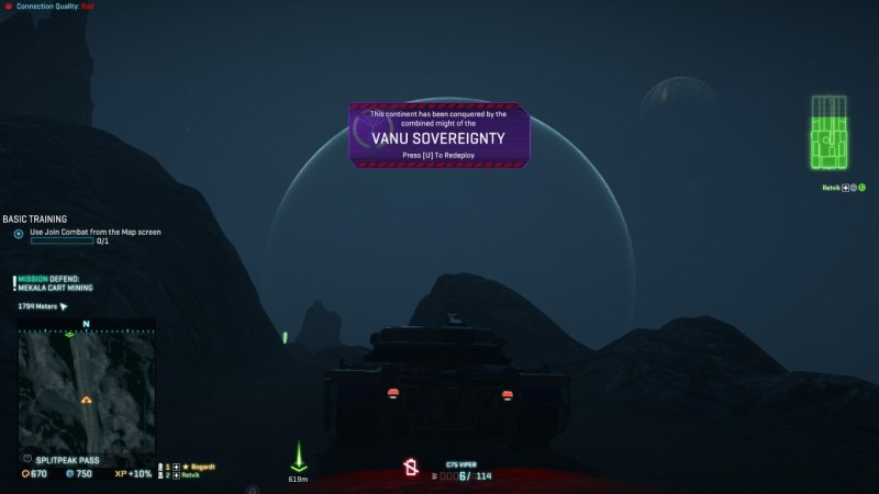 Planetside 2. Shame that giant thing is in the way.