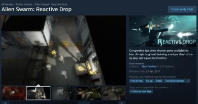 Alien Swarm: Reactive Drop Steam Store Page