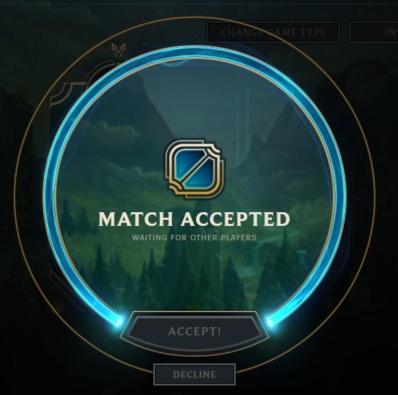 Accept match, NOW