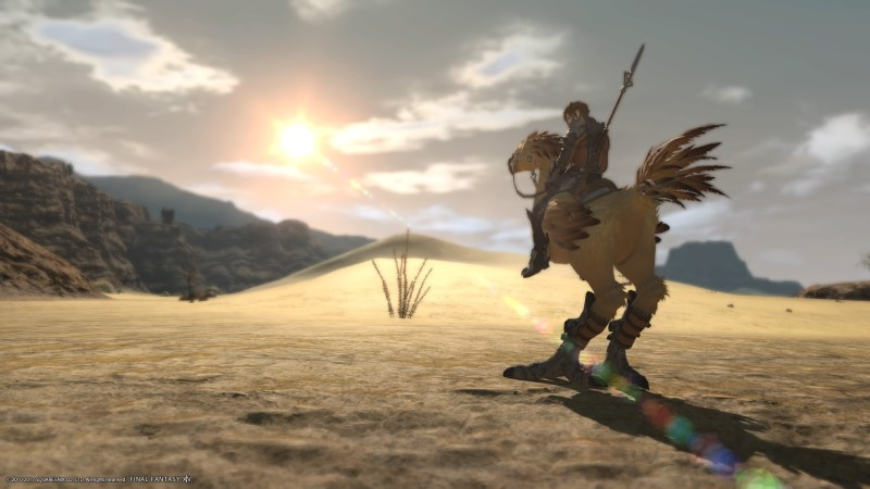 Riding Kato in the deserts outside Uldah.
