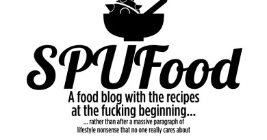 SPUFood - A food blog without all that annoying lifestyle bullshit