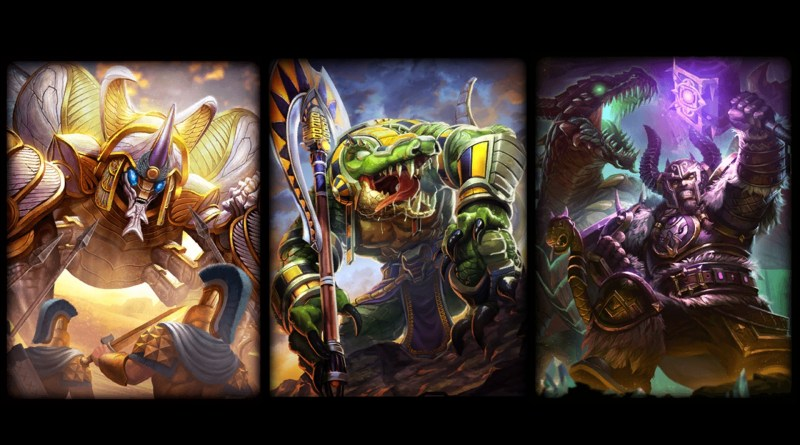 Meet the Guardians! From left to right: Khepri, Sobek, Fafnir.