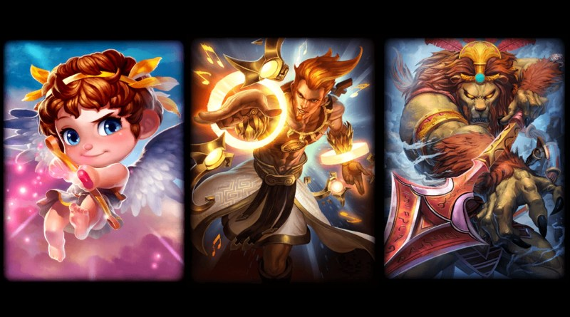 My favourite hunters in SMITE - Cupid, Apollo, Anhur.