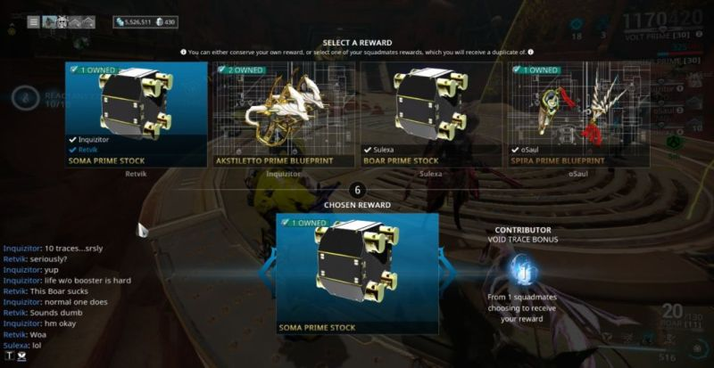 Sometimes you get super lucky in Warframe and it doesn't cost you a penny.