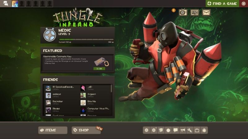 TF2 Main Menu