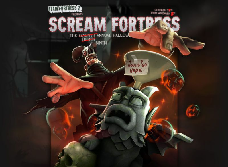 Scream Fortress IX fake update page