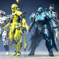 A bunch of random Warframes.