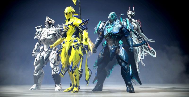 A bunch of random Warframes.