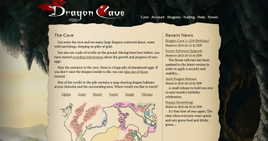 Dragon Cave home page