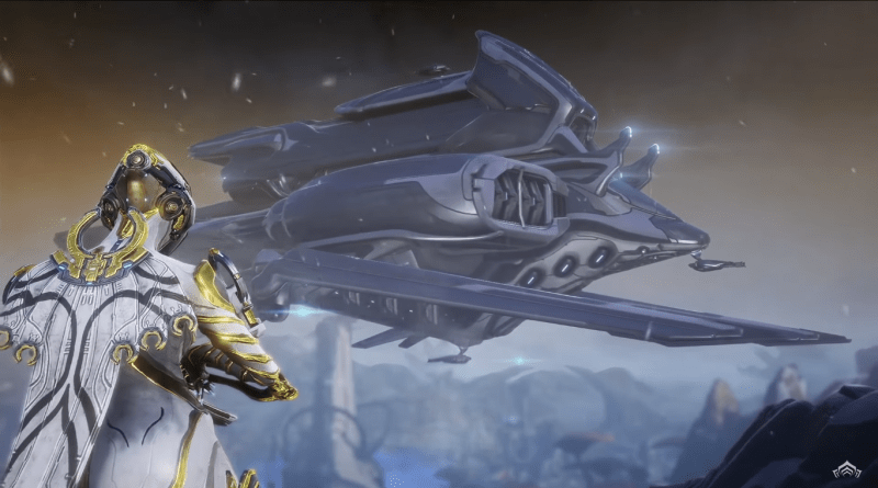 Is that a ship coming to pick you up? A Tenno ship?