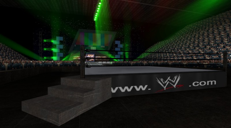 Yes this is a random screenshot of a wrestling arena done in Garry's Mod.