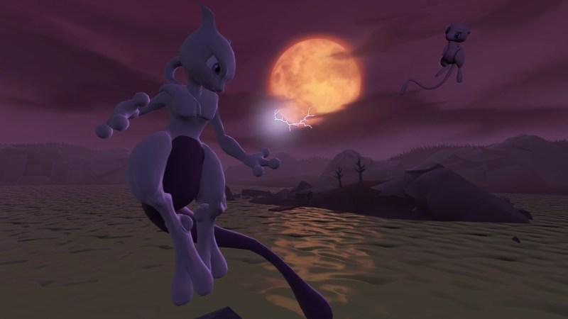 Mewtwo and Mew