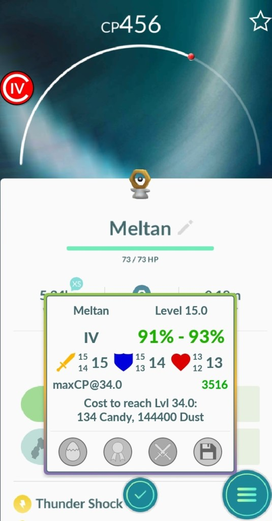 And I got a pretty good Meltan out of this...