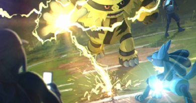 The loading screen in Pokemon Go for the PvP update