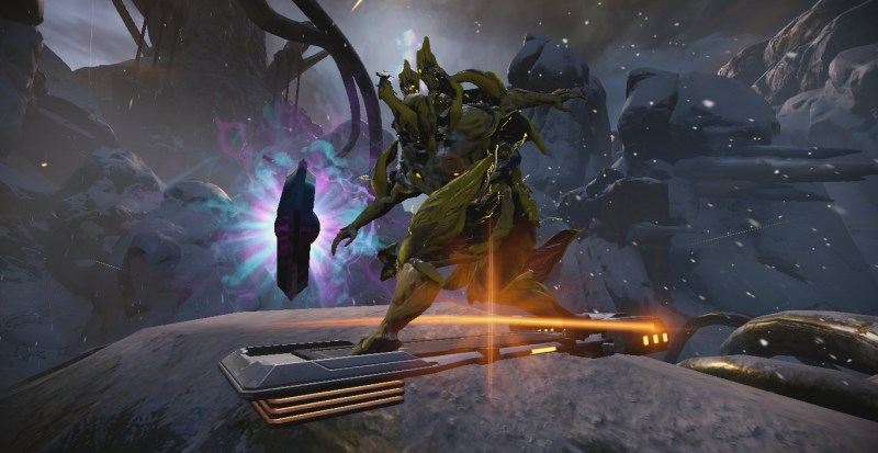 Nidus on a K-Drive next to a K-Drive point booster thingy