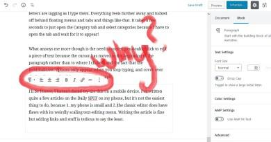 Wordpress 5 toolbar issue