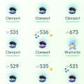 Plenty of Clamperls and also other, unusual Pokemon...