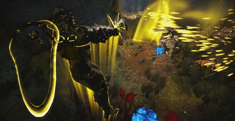 Hildryn using Aegis Storm and Balefire against an Ambulas
