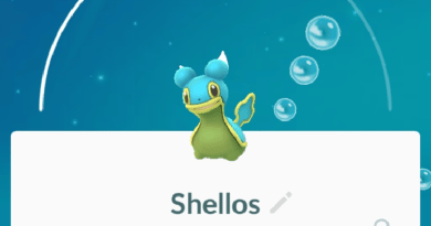 Pokemon Go Shellos Blue Variant