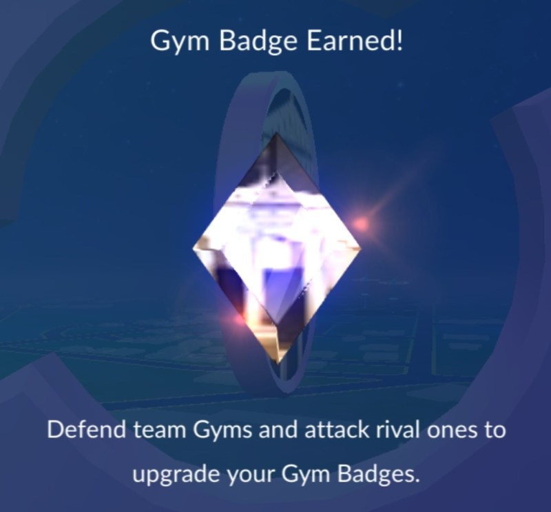 New Gym Badge Earned!