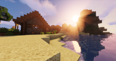 Minecraft with a resource pack, a shader and Optifine