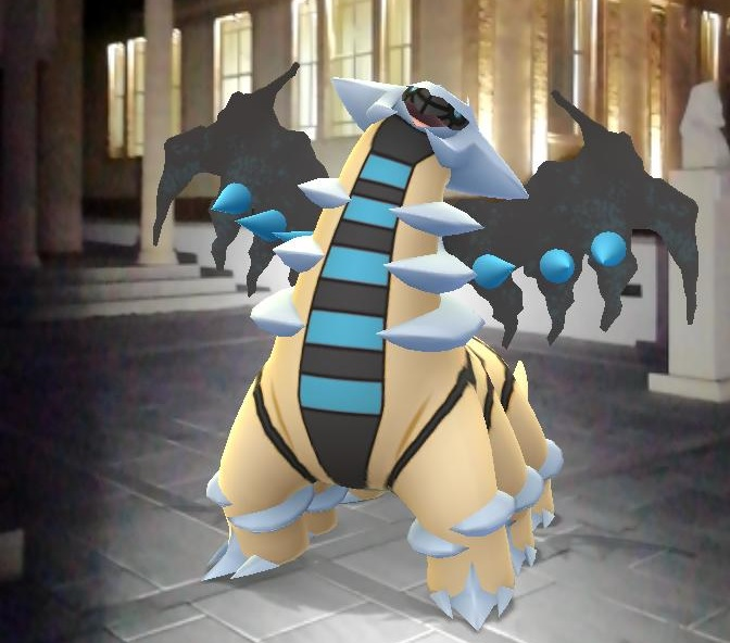 Giratina out by a Pokemon Go gym