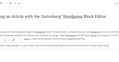 The Wordpress Block Editor