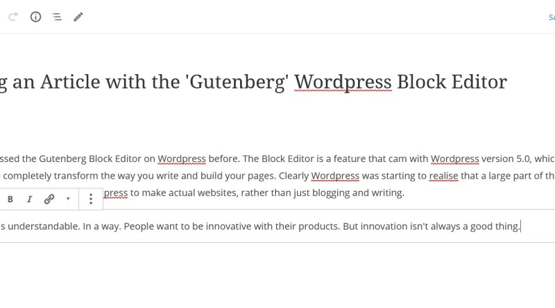 The Wordpress Block Editor