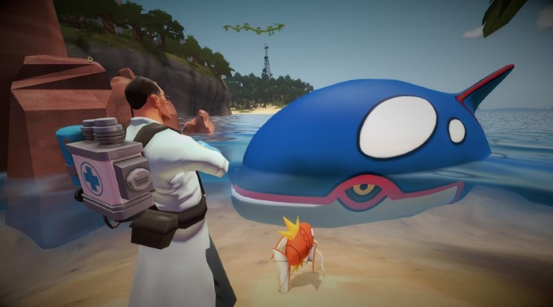 Medic rolls his eyes at a massive Kyogre