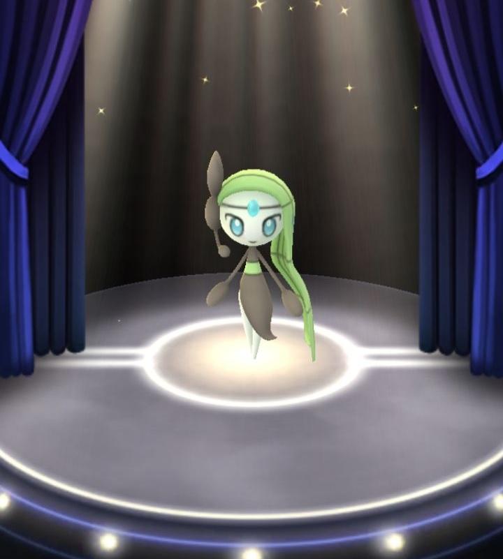 Meloetta on stage