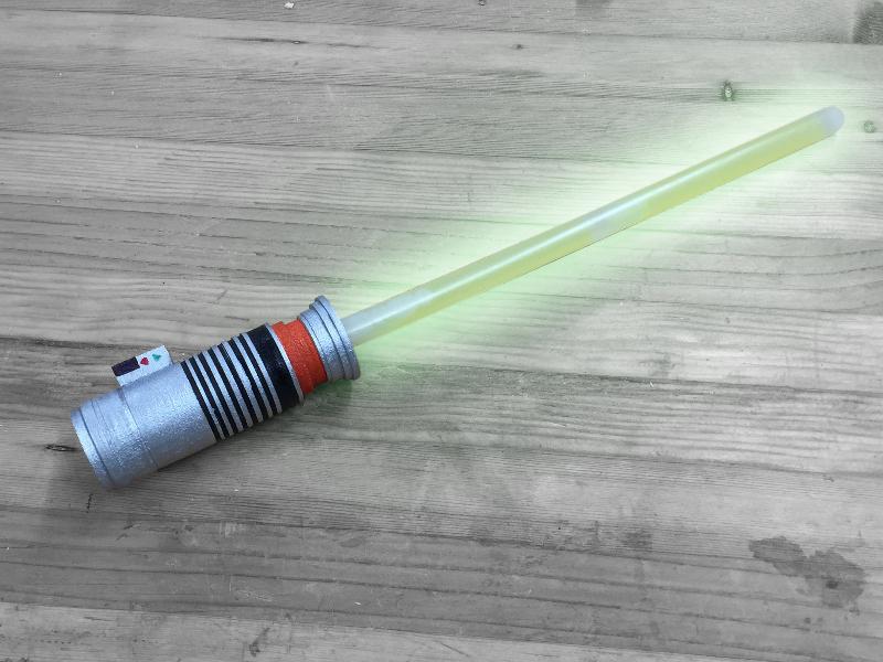 glow stick lightsaber woodworking