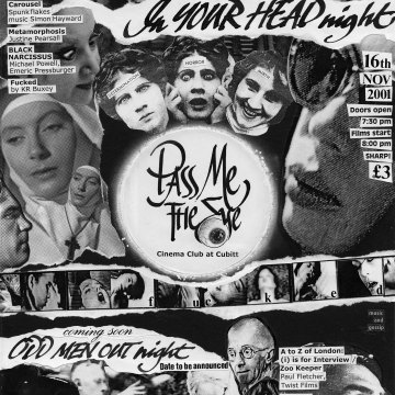 Pass Me the Eye Cinema Club No2 flyer by Paul Neesham