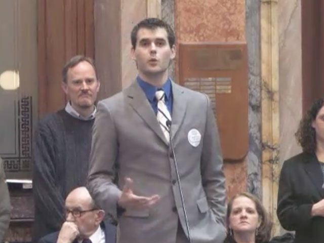 Zach Wahls speaks about gay families in Iowa