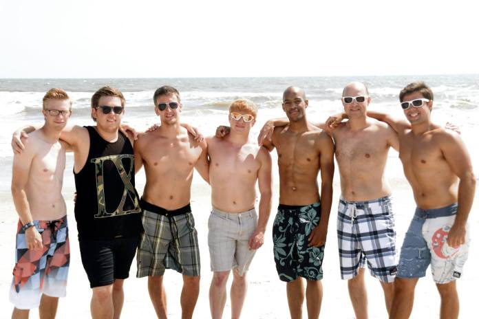 Andy, Trevor, Lucas, Nate, Michael, Darryl and Adrian Glass