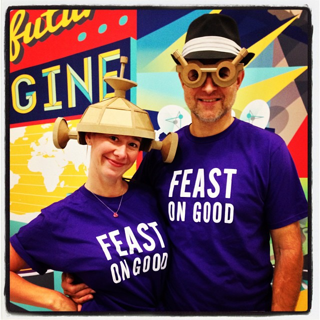 Angela and Darryl Glass volunteer for Feast on Good (October 18, 2013)
