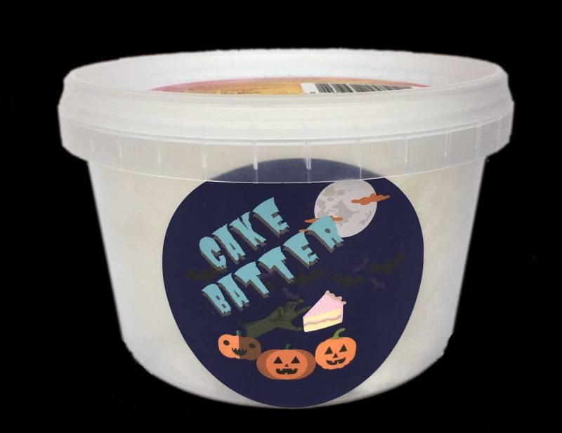 halloween tub of cake batter