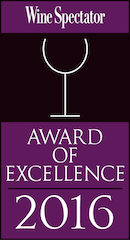 Wine Spectator Award of Excellence 2016